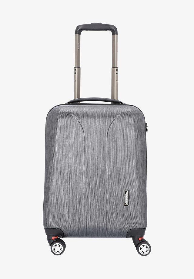 Wheeled suitcase - black brushed