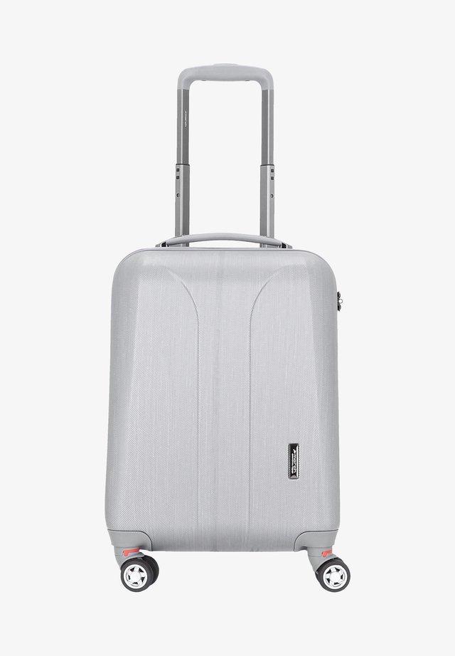 Wheeled suitcase - silver brushed