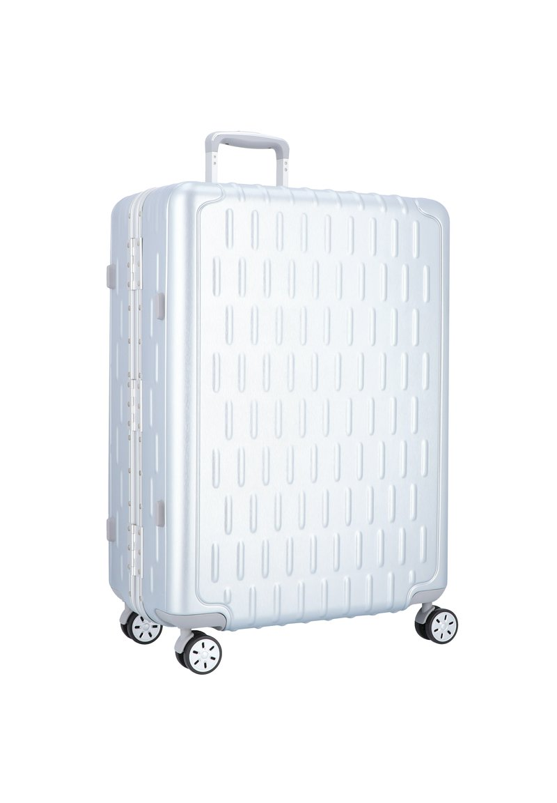 march luggage - DISCOVERY 4-ROLLEN TROLLEY - Wheeled suitcase - silver alu