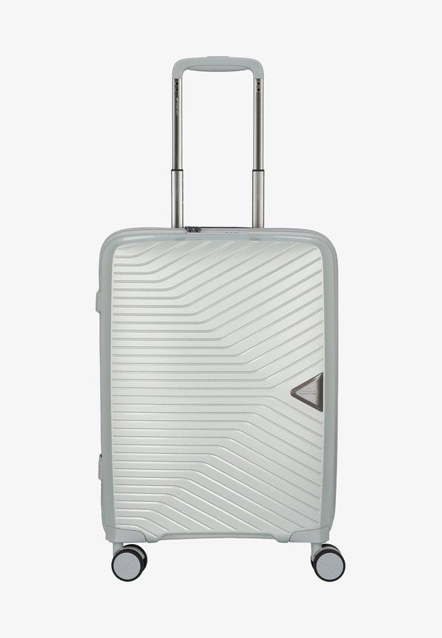 Wheeled suitcase - silver metallic