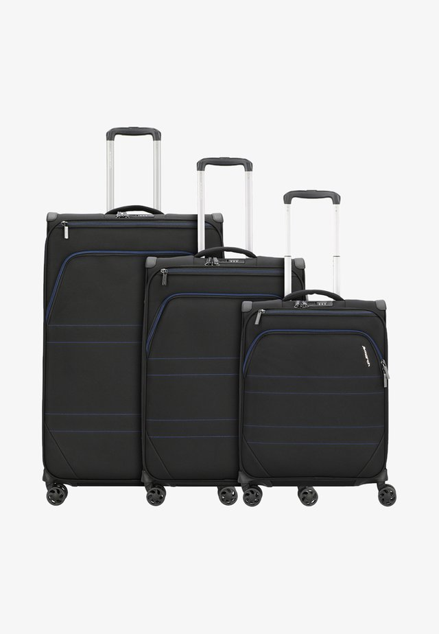 3 SET  - Luggage set - black indigo