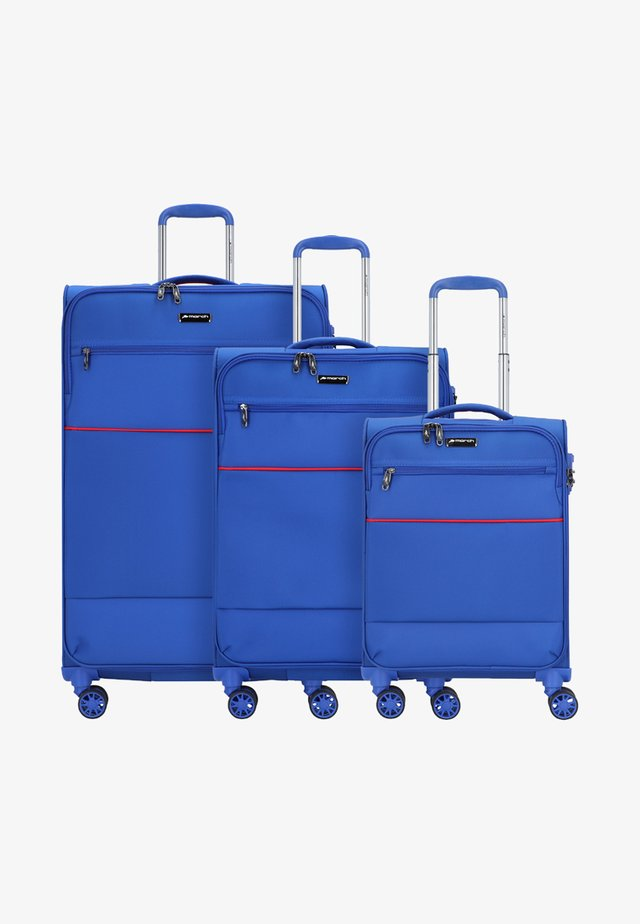 3 SET - Luggage set - cobalt blue