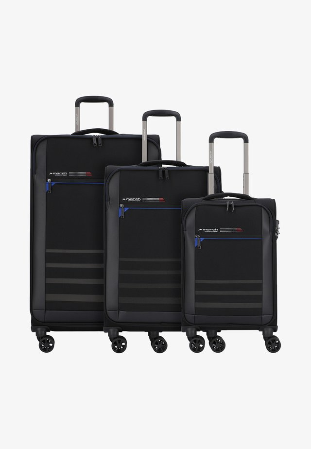 3 SET - Luggage set - black