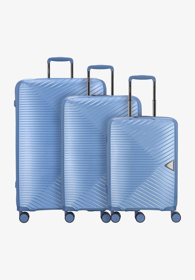3 PIECES - Luggage set - blue grey