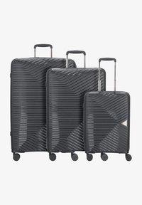 march luggage - 3 PIECES - Luggage set - black - 0
