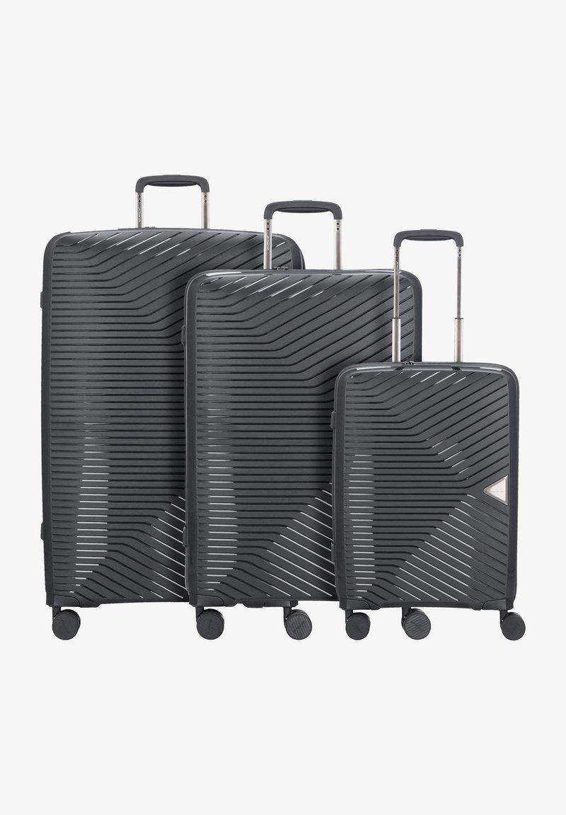 march luggage - 3 PIECES - Luggage set - black
