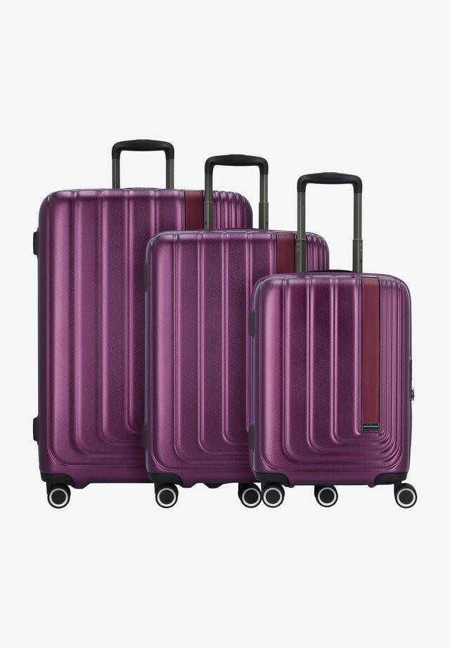 3 PACK - Luggage set - purple metallic