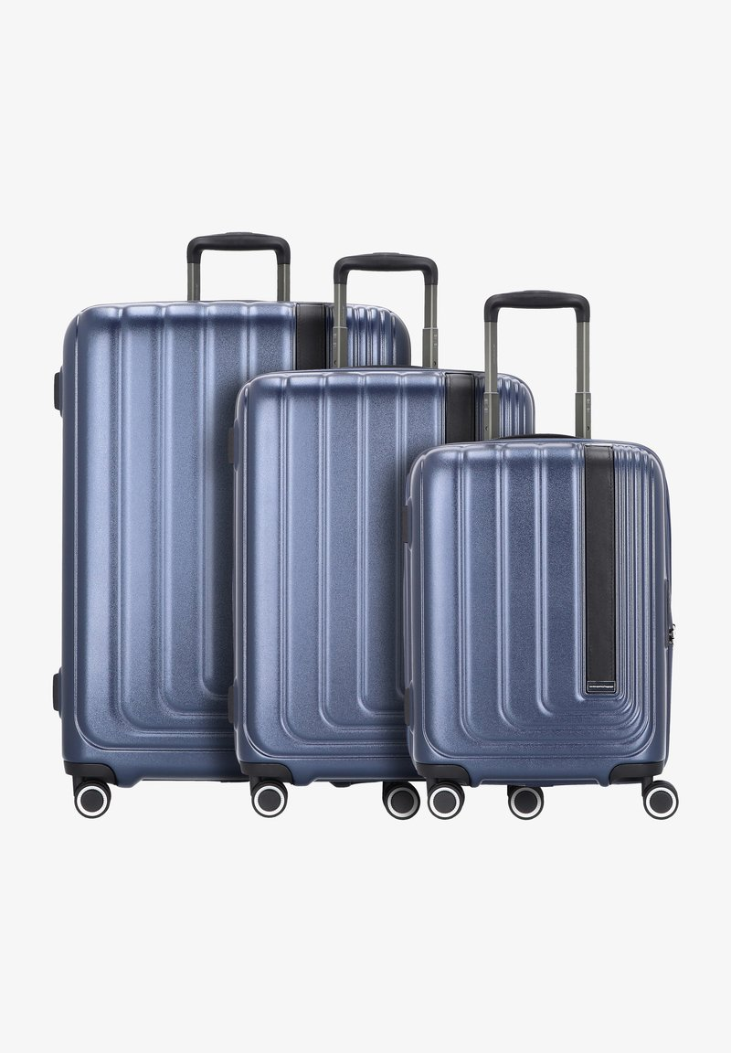 march luggage - 3 PACK - Luggage set - navy metallic