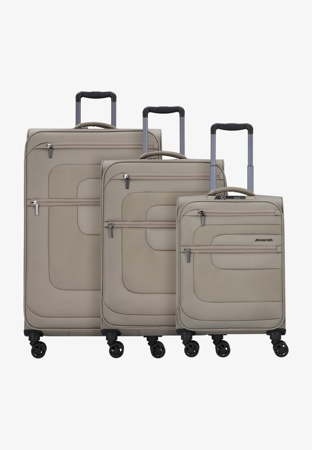 3 PACK - Luggage set - beige