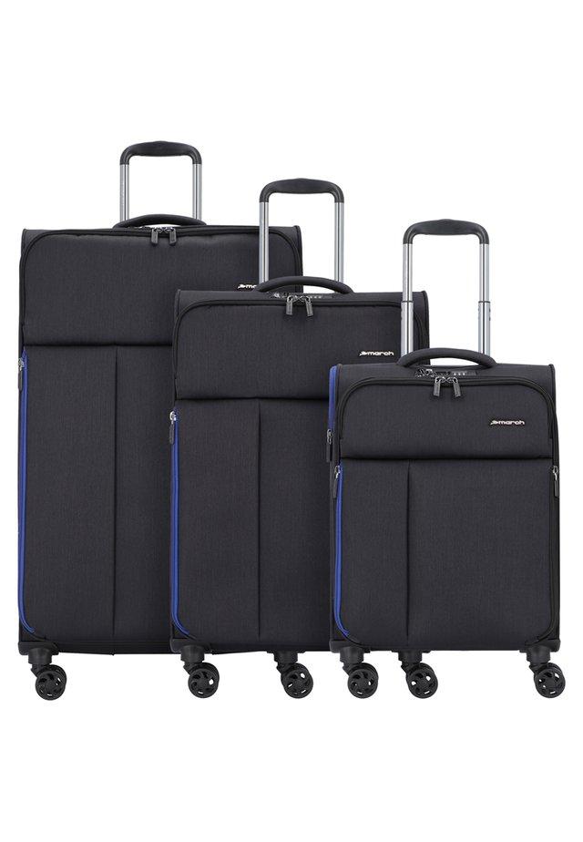 3 SET - Luggage set - black brushed