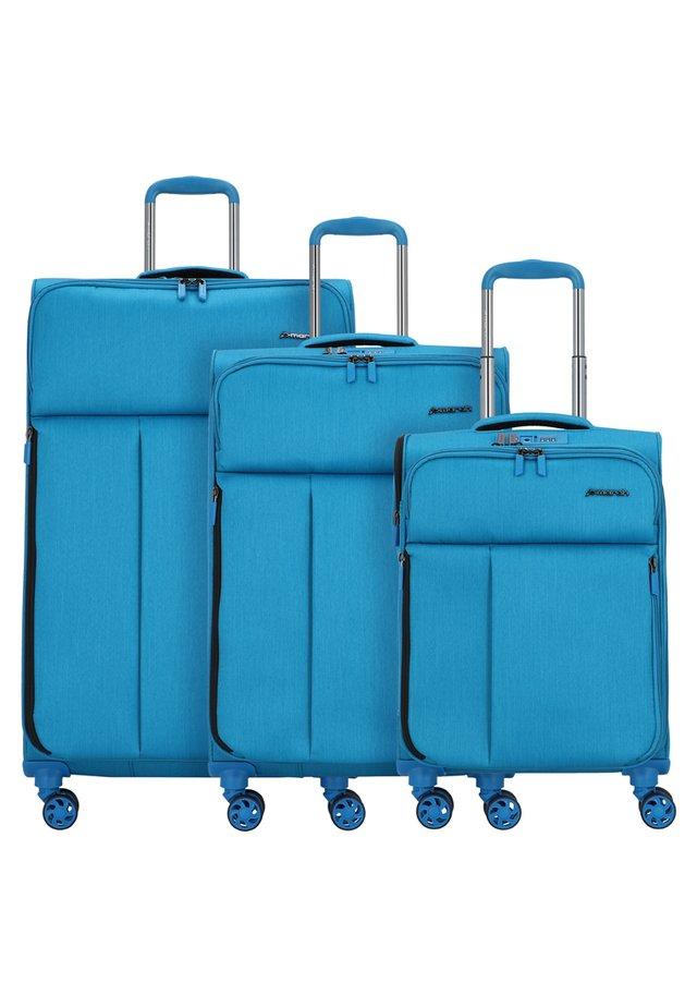 3 SET - Luggage set - petrol blue brushed