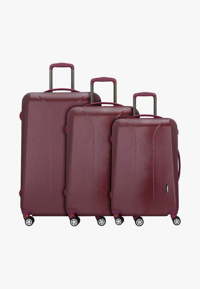 3 SET - Kofferset - burgundy brush