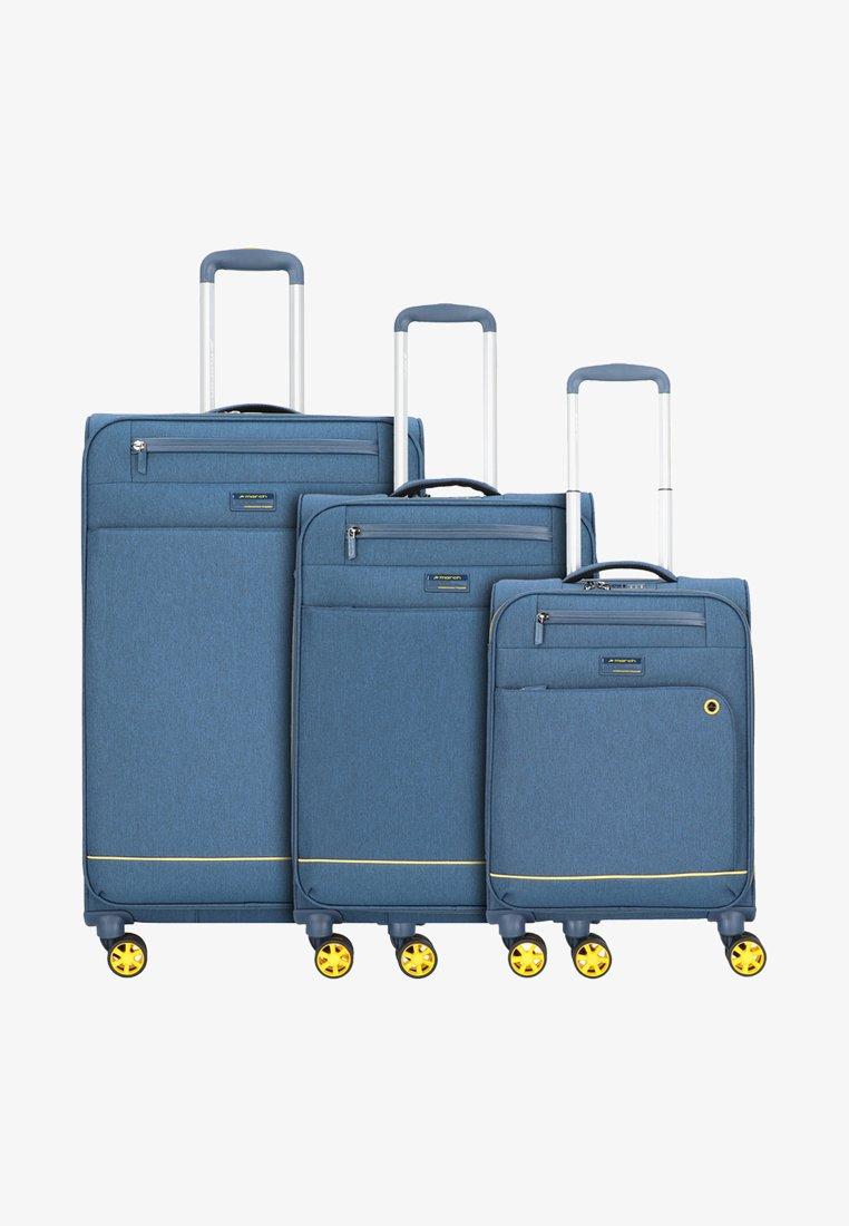 march luggage - 3 SET - Luggage set - navy/yellow