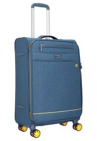march luggage - 3 SET - Luggage set - navy/yellow - 1