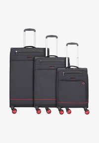 march luggage - 3 SET - Luggage set - black / red - 0