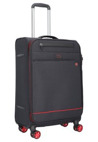 march luggage - 3 SET - Luggage set - black / red - 1