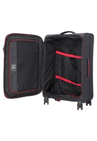 march luggage - 3 SET - Luggage set - black / red - 4