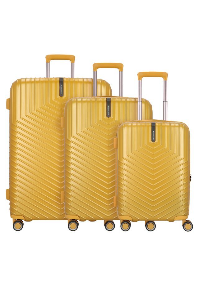 LOTUS 4-ROLLEN 3TLG. - Luggage set - golden honey metallic