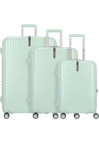 march luggage - LOTUS 4-ROLLEN 3TLG. - Luggage set - dusty mint metal - 0