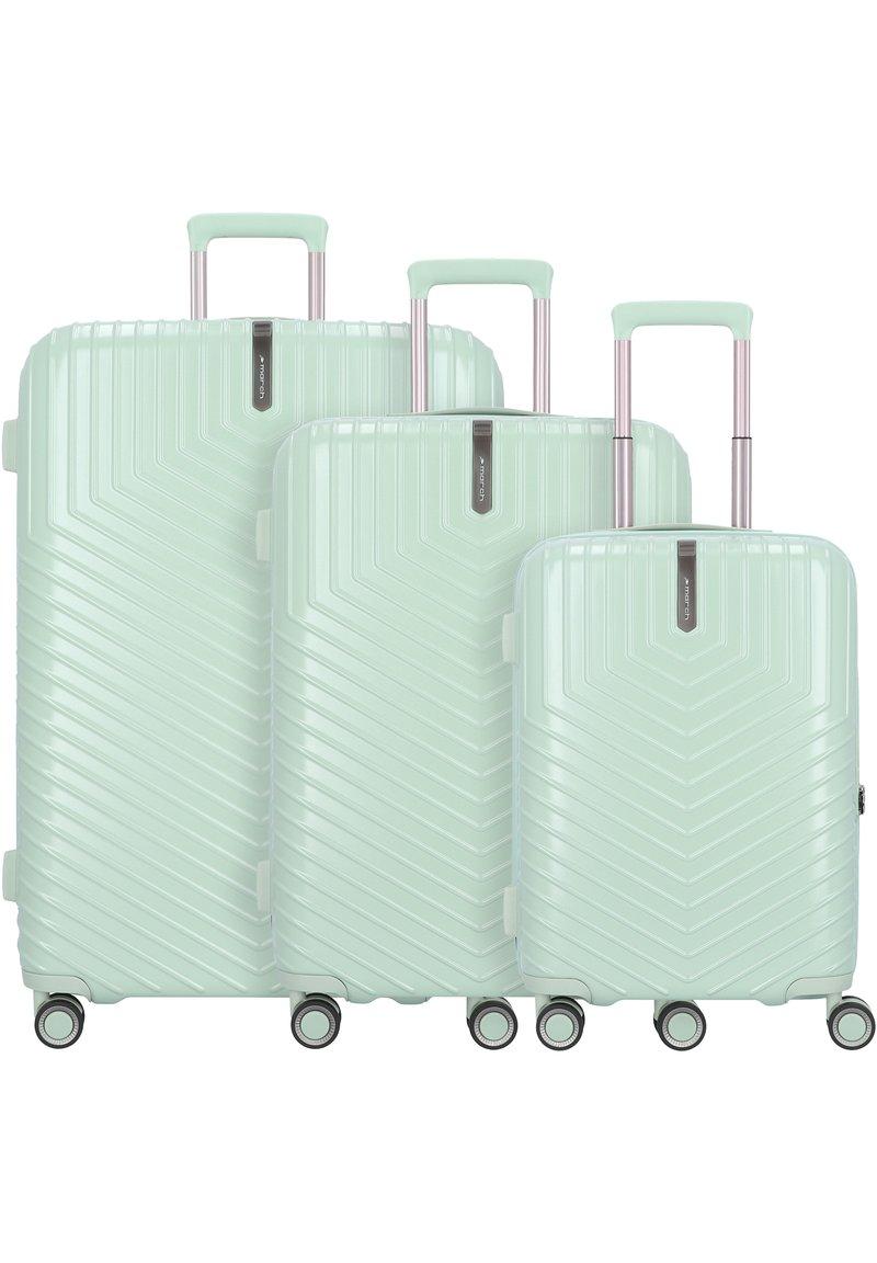 march luggage - LOTUS 4-ROLLEN 3TLG. - Luggage set - dusty mint metal