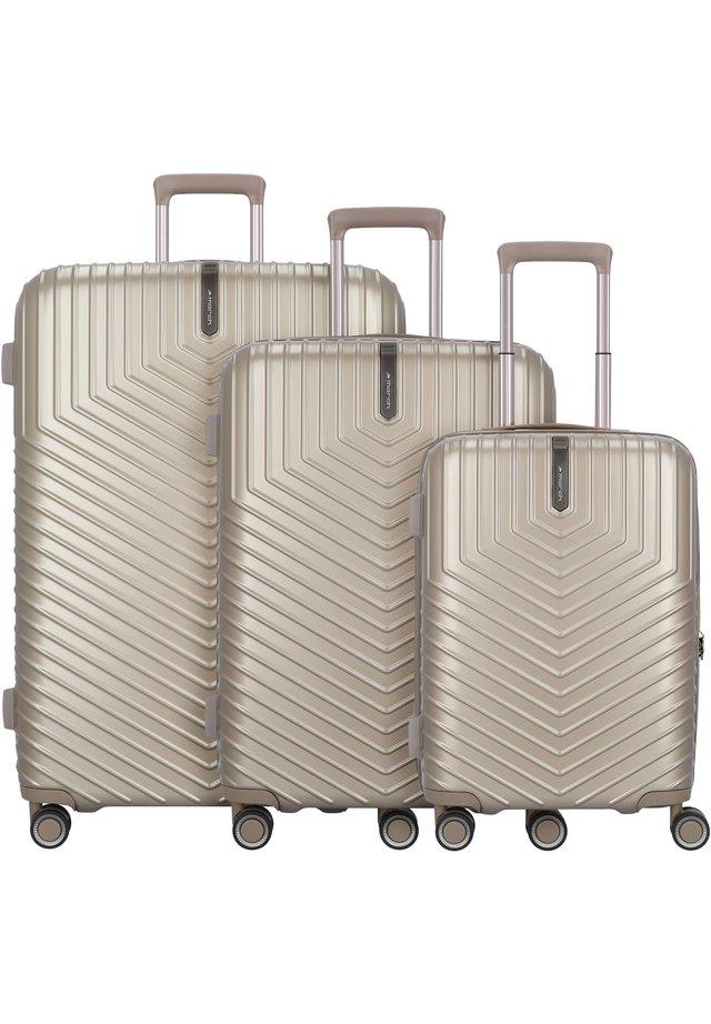 LOTUS 4-ROLLEN 3TLG. - Luggage set - silver-bronze metallic
