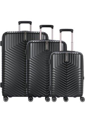 LOTUS 4-ROLLEN 3TLG. - Set de valises - black metal