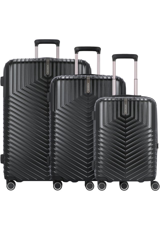 LOTUS 4-ROLLEN 3TLG. - Luggage set - black metal