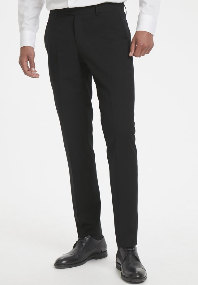 LAS - Suit trousers - black