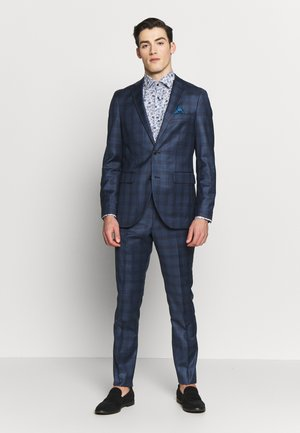 DUST CHECK - Oblek - dust blue