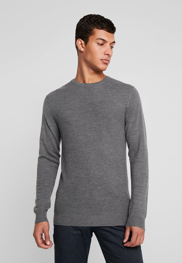 TRITON - Strickpullover - medium grey melange
