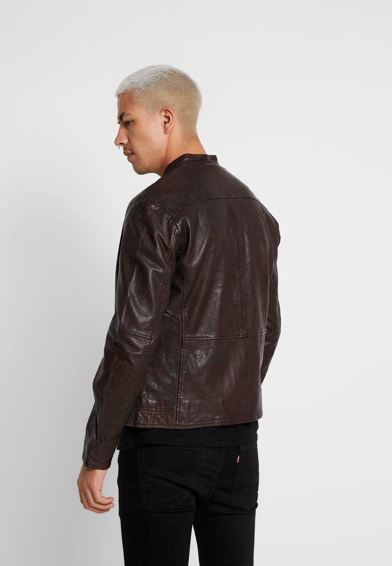 Matinique - ADRON - Læderjakker - dark brown