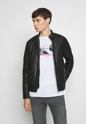 ADRON - Leather jacket - black