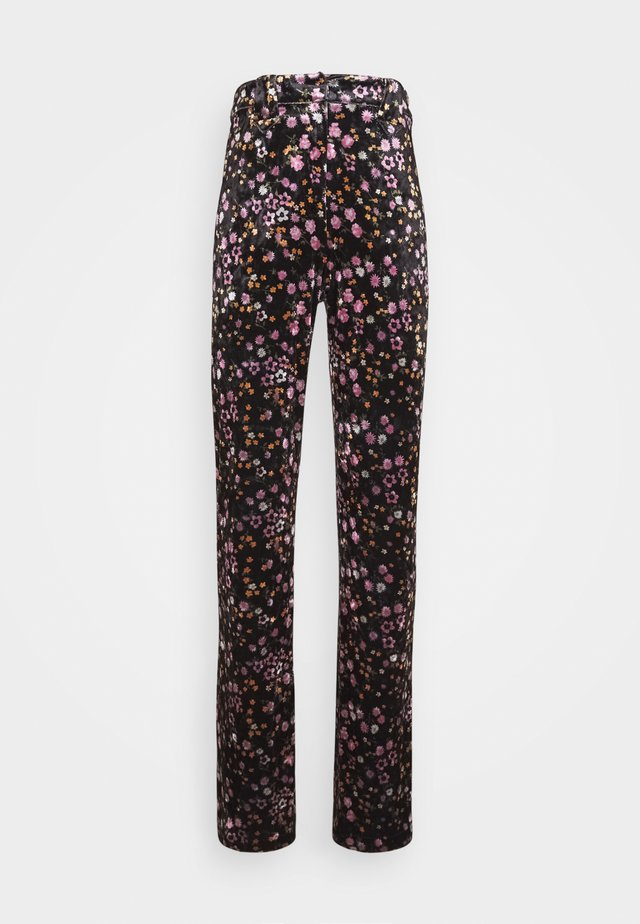 YOUNG LADIES WOVEN PANTS - Broek - cravate black
