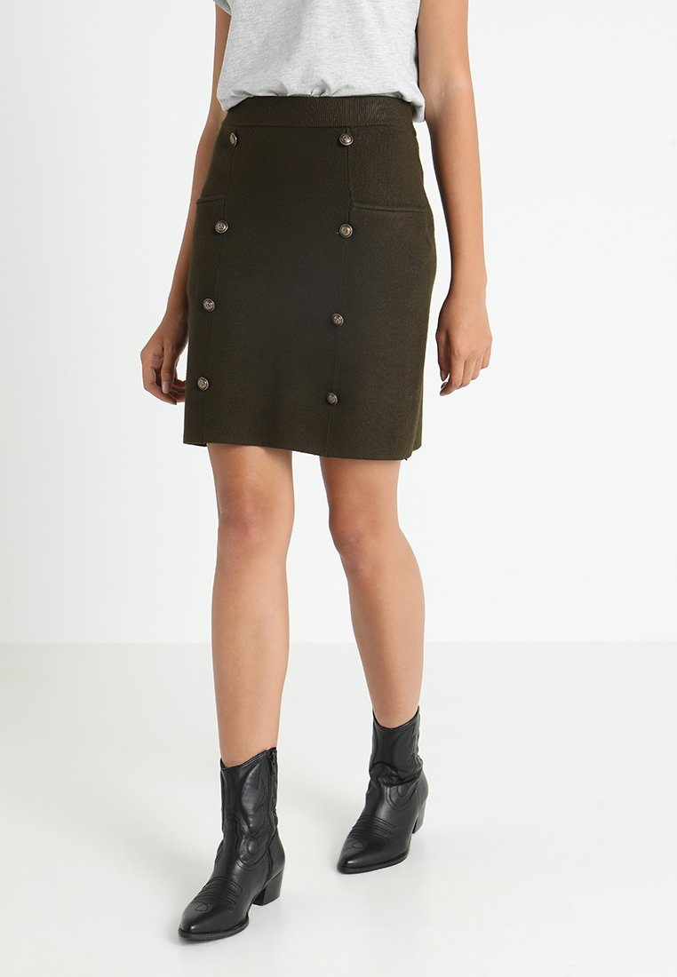Molly Bracken - LADIES SKIRT - Mini skirts  - khaki