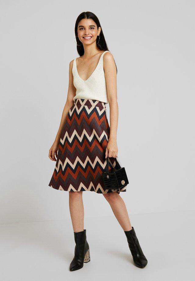 LADIES SKIRT - A-line skirt - camel
