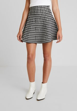 YOUNG LADIES SKIRT - Spódnica trapezowa - black/offwhite