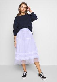 Molly Bracken - LADIES WOVEN SKIRT - A-line skirt - blue - 1