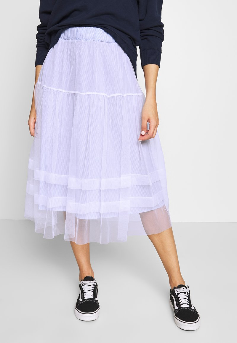 Molly Bracken - LADIES WOVEN SKIRT - A-line skirt - blue