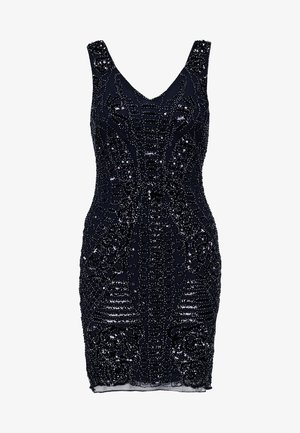 LADIES WOVEN DRESS - Cocktail dress / Party dress - midnight blue