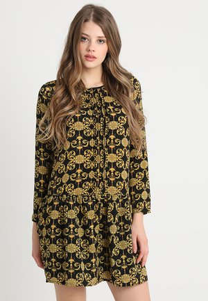 LADIES DRESS - Sukienka letnia - black/yellow