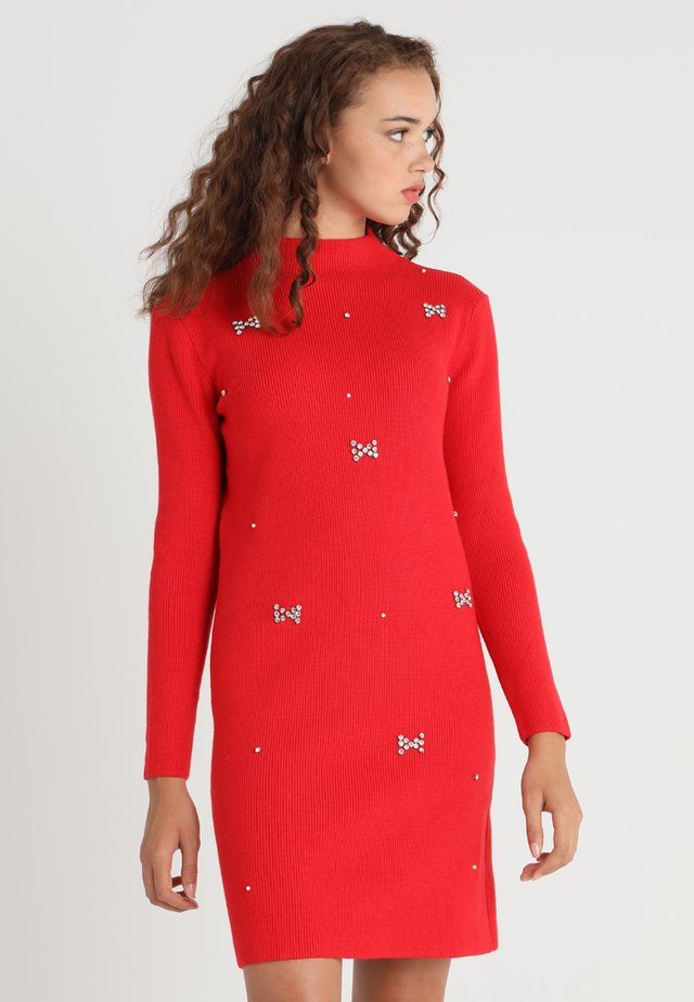 YOUNG LADIES DRESS - Strickkleid - red