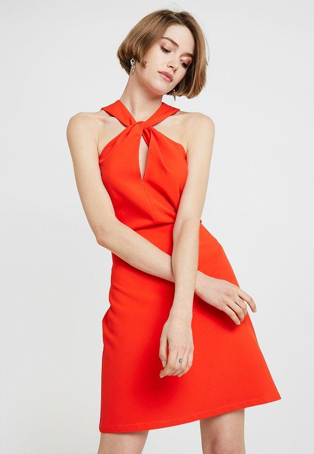 LADIES WOVEN DRESS - Juhlamekko - burnt orange
