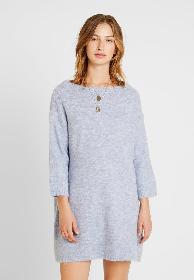 LADIES DRESS - Strickkleid - light denim