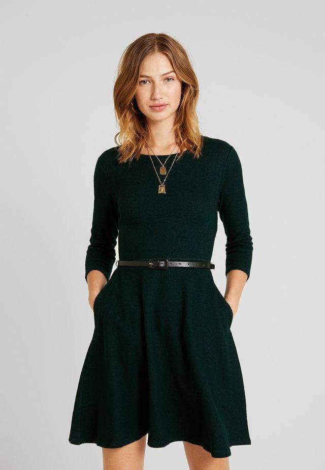 LADIES DRESS - Strickkleid - dark green
