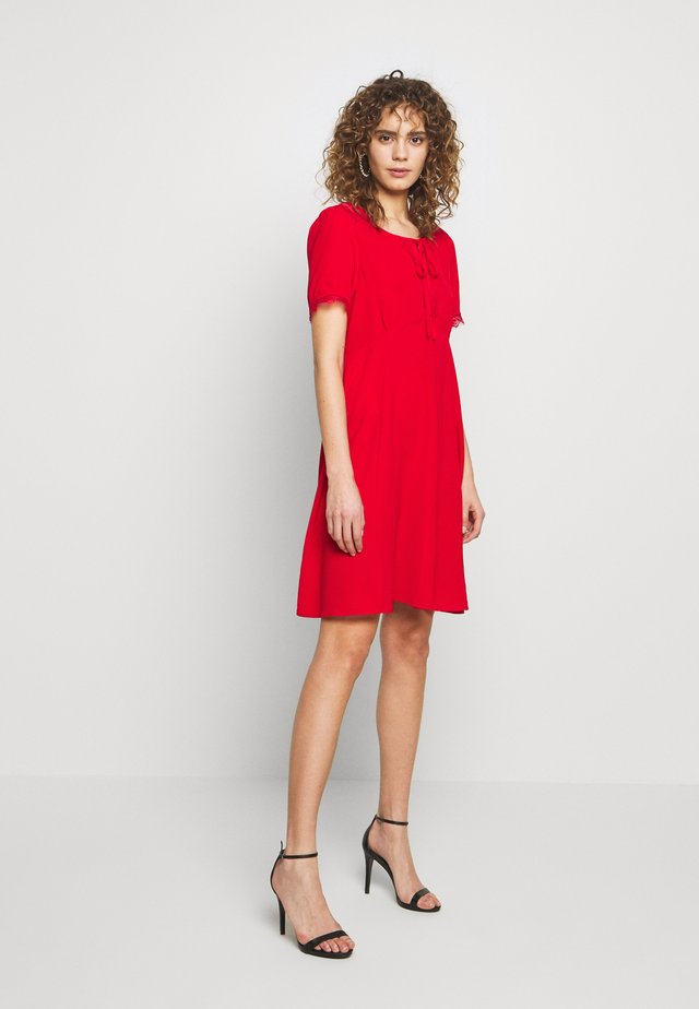 LADIES DRESS - Korte jurk - red coral