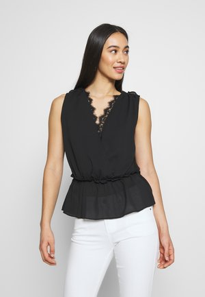 LADIES WOVEN TOP - Bluser - black
