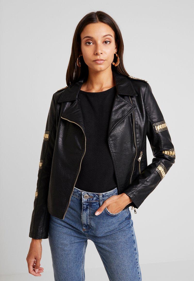 Molly Bracken - LADIES JACKET - Faux leather jacket - black