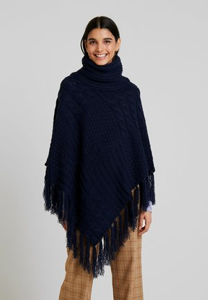 LADIES PONCHO - Kapper - navy blue