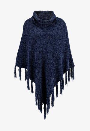 LADIES PONCHO - Cape - navy blue