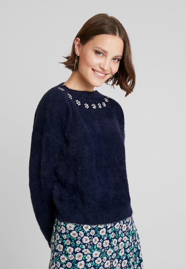 LADIES KNITTED - Jumper - navy blue